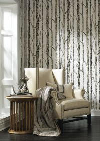 Ronald Redding Wallpaper Urban Retreat Pattern Birches