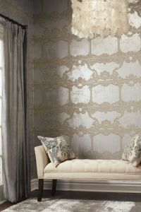 Silver Leaf II Wallpaper by Ronald Redding Designs